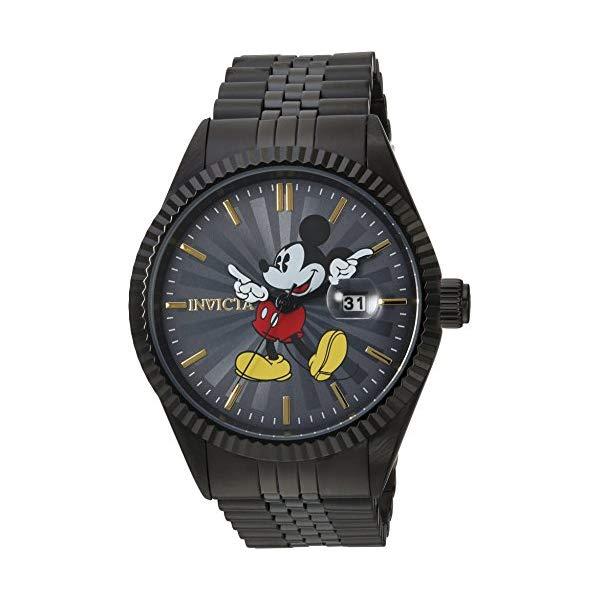 インビクタ INVICTA インヴィクタ 腕時計 ウォッチ 22771 ディズニー 限定 ミッキー メンズ 男性用 Invicta Men's Disney Limited Edition Quartz Watch with Stainless-Steel Strap, Black, 8 (Model: 22771)