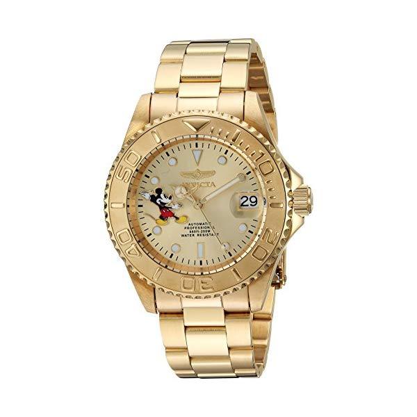 インビクタ INVICTA インヴィクタ 腕時計 ウォッチ 24756 ディズニー 限定 ミッキー メンズ 男性用 Invicta Men's Disney Limited Edition Automatic-self-Wind Watch with Stainless-Steel Strap, Gold, 20 (Model: 24756)