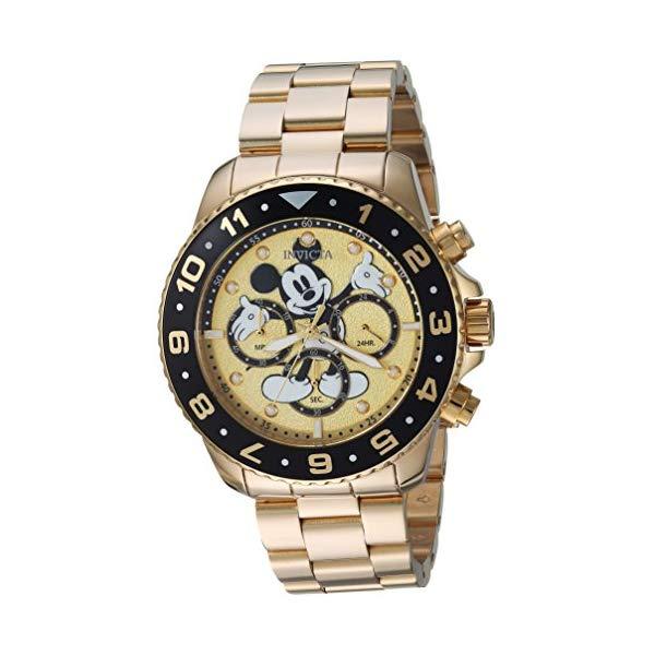 インビクタ INVICTA インヴィクタ 腕時計 ウォッチ 24955 ディズニー 限定 ミッキー メンズ 男性用 Invicta Men's Disney Limited Edition Quartz Watch with Stainless-Steel Strap, Gold, 22 (Model: 24955)