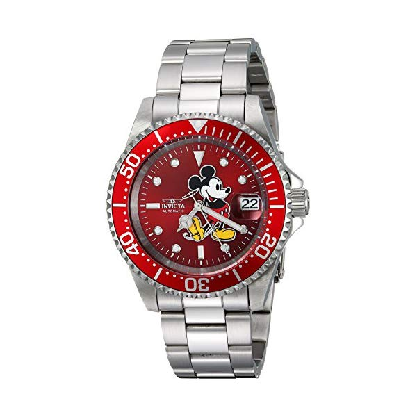 インビクタ INVICTA インヴィクタ 腕時計 ウォッチ 24759 ディズニー 限定 ミッキー メンズ 男性用 Invicta Men's Disney Limited Edition Automatic-self-Wind Watch with Stainless-Steel Strap, Silver, 20 (Model: 24759)