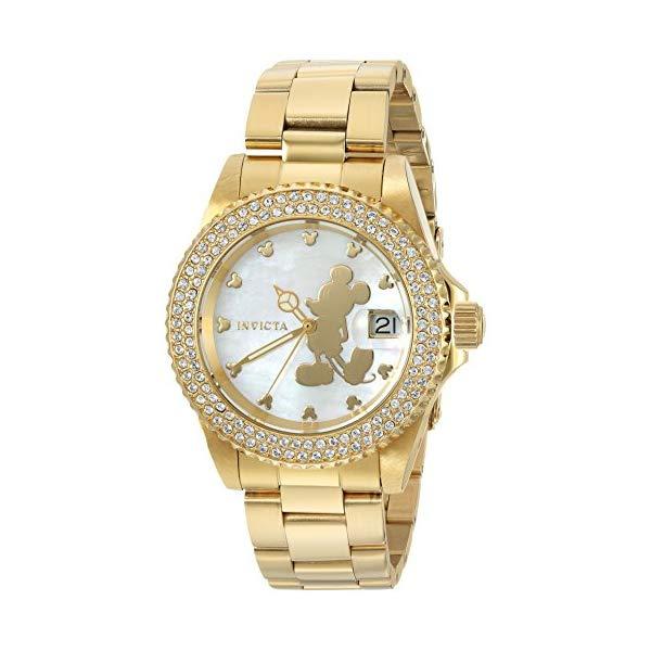 インビクタ INVICTA インヴィクタ Quartz 腕時計 Strap, ウォッチ Gold, 22728 ディズニー 限定 ミッキー レディース 女性用 Invicta Women's Disney Limited Edition Quartz Watch with Stainless-Steel Strap, Gold, 20 (Model: 22728), 保障できる:d926c9e3 --- ww.thecollagist.com