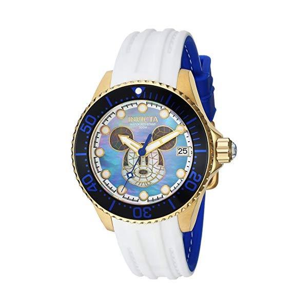 インビクタ INVICTA インヴィクタ 腕時計 ウォッチ 22754 ディズニー 限定 ミッキー レディース 女性用 Invicta Women's Disney Limited Edition Stainless Steel Automatic-self-Wind Watch with Silicone Strap, White, 17 (Model: 22754)