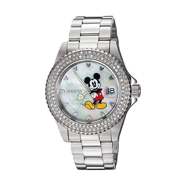 インビクタ (Model: INVICTA インヴィクタ 24750) 腕時計 インビクタ ウォッチ 24750 ディズニー 限定 ミッキー レディース 女性用 Invicta Women's Disney Limited Edition Quartz Watch with Stainless-Steel Strap, Silver, 9 (Model: 24750), TRAMS:094f2556 --- ww.thecollagist.com