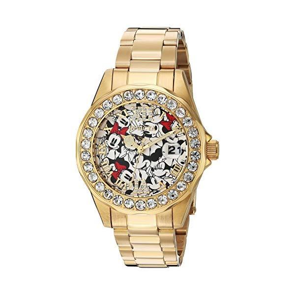 インビクタ INVICTA インヴィクタ 腕時計 ウォッチ 24419 ディズニー 限定 ミニー レディース 女性用 Invicta Women's Disney Limited Edition Quartz Watch with Stainless-Steel Strap, Gold, 18 (Model: 24419)