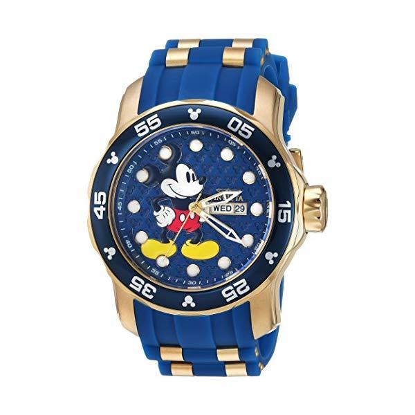 インビクタ INVICTA インヴィクタ 腕時計 ウォッチ 23764 ディズニー 限定 ミッキー メンズ 男性用 Invicta Men's Disney Limited Edition Stainless Steel Quartz Watch with Silicone Strap, Blue, 26 (Model: 23764)