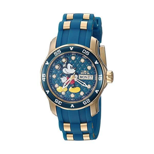 インビクタ INVICTA インヴィクタ 腕時計 ウォッチ 23771 ディズニー 限定 ミッキー レディース 女性用 Disney Invicta Women's Limited Edition Stainless Steel Quartz Watch with Silicone Strap, Two Tone, 20 (Model: 23771)