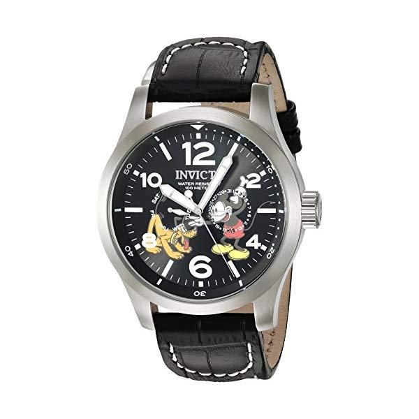 インビクタ INVICTA インヴィクタ 腕時計 ウォッチ 22873 ディズニー 限定 ミッキー プルート メンズ 男性用 Invicta Men's Disney Limited Edition Stainless Steel Quartz Watch with Leather-Synthetic Strap, Black, 24 (Model: 22873)
