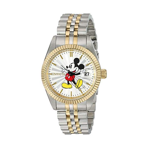 インビクタ INVICTA Tone, インヴィクタ 腕時計 Two ウォッチ 22776 ディズニー 限定 ミッキー Watch レディース 女性用 Invicta Women's Disney Limited Edition Quartz Watch with Stainless-Steel Strap, Two Tone, 7 (Model: 22776), 羽咋郡:480b7eab --- ww.thecollagist.com