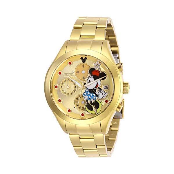 インビクタ INVICTA インヴィクタ 腕時計 ウォッチ 27402 ディズニー 限定 ミニー レディース 女性用 Invicta Women's Disney Limited Edition Quartz Watch with Stainless Steel Strap, Gold, 18 (Model: 27402)