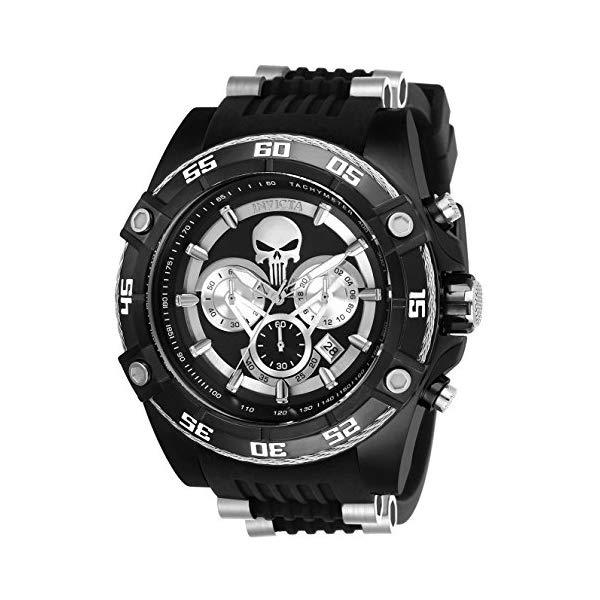 インビクタ INVICTA インヴィクタ 腕時計 ウォッチ MARVEL 26859 マーベル パニッシャー メンズ 男性用 Invicta Men's Marvel Stainless Steel Quartz Watch with Silicone Strap, Black, 26 (Model: 26859)