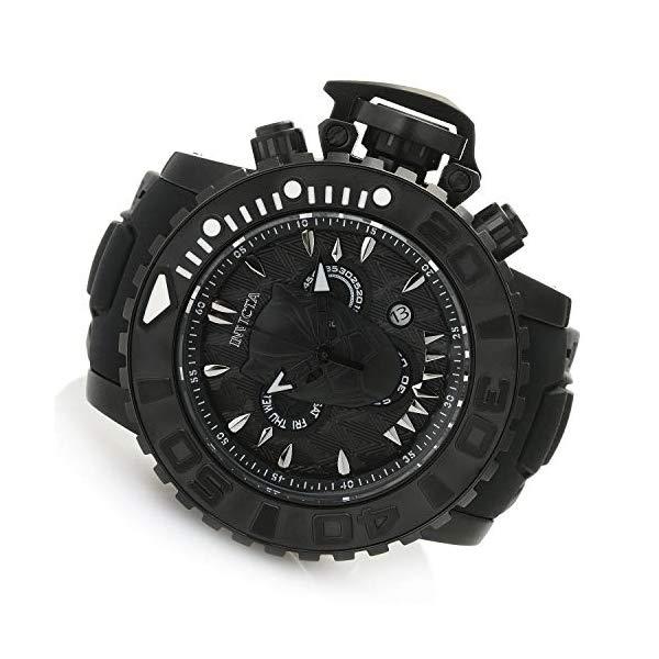 インビクタ INVICTA インヴィクタ 腕時計 ウォッチ MARVEL マーベル ブラックパンサー メンズ 男性用 Invicta Marvel Black Panther Men's 58mm Sea Hunter Swiss Quartz Chronograph Silicone Strap Watch