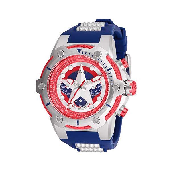 インビクタ INVICTA インヴィクタ 腕時計 ウォッチ MARVEL 26894 マーベル キャプテンアメリカ メンズ 男性用 Invicta Men's Marvel Stainless Steel Quartz Watch with Silicone Strap, Blue, 30 (Model: 26894)