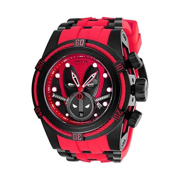インビクタ INVICTA インヴィクタ 腕時計 ウォッチ MARVEL 27152 マーベル デッドプール メンズ 男性用 Invicta Men's Marvel Stainless Steel Quartz Watch with Silicone Strap, Red, 35 (Model: 27152)