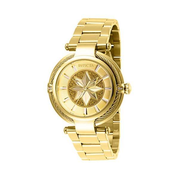 インビクタ Stainless INVICTA インヴィクタ 腕時計 レディース ウォッチ MARVEL 28833 Gold, マーベル キャプテンマーベル レディース 女性用 Invicta Women's Captain Marvel Analog Quartz Watch with Stainless Steel Strap, Gold, 20 (Model: 28833), 彦一本舗:fcfbba33 --- ww.thecollagist.com