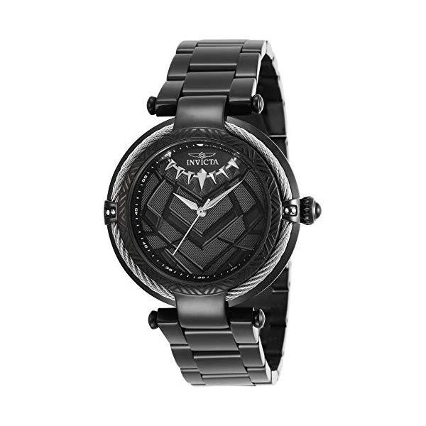 インビクタ INVICTA インヴィクタ 腕時計 ウォッチ MARVEL 29568 マーベル ブラックパンサー レディース 女性用 Invicta Women's Marvel Quartz Watch with Stainless Steel Strap, Black, 20 (Model: 29568)