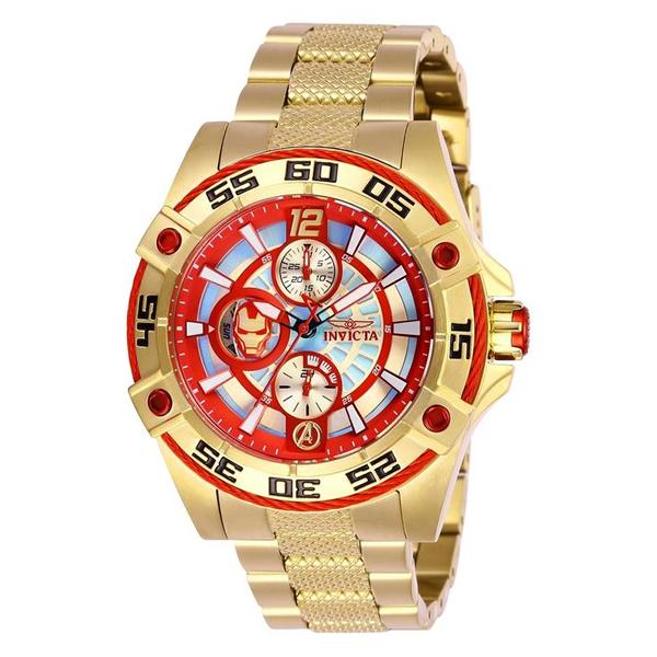 インビクタ INVICTA インヴィクタ 腕時計 ウォッチ MARVEL 27022 マーベル アイアンマン レディース 女性用 Invicta Women's 27022 Marvel Quartz Multifunction Red, Blue Dial Watch