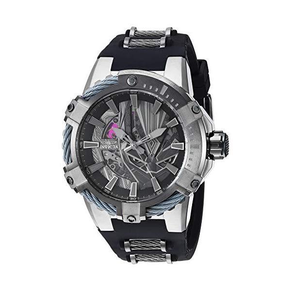 """インビクタ INVICTA インヴィクタ 腕時計 ウォッチ MARVEL 26752 マーベル ブラックパンサー メンズ 男性用 Invicta Men""""s Marvel Stainless Steel Automatic-self-Wind Watch with Silicone Strap, Black, 32 (Model: 26752)"""