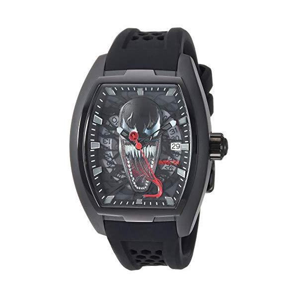 インビクタ INVICTA インヴィクタ 腕時計 ウォッチ MARVEL 28856 マーベル ヴェノム メンズ 男性用 Invicta Men's Marvel Stainless Steel Automatic Watch with Silicone Strap, Black, 21.4 (Model: 28856)