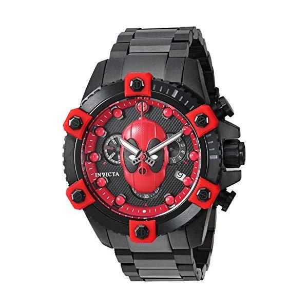 インビクタ INVICTA インヴィクタ 腕時計 ウォッチ MARVEL 27155 マーベル デッドプール メンズ 男性用 Invicta Men's Marvel Quartz Watch with Stainless-Steel Strap, Grey, 23 (Model: 27155)