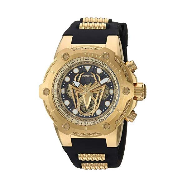 インビクタ INVICTA インヴィクタ 腕時計 ウォッチ MARVEL 26917 マーベル スパイダーマン メンズ 男性用 Invicta Men's Marvel Stainless Steel Quartz Watch with Silicone Strap, Black, 30 (Model: 26917)