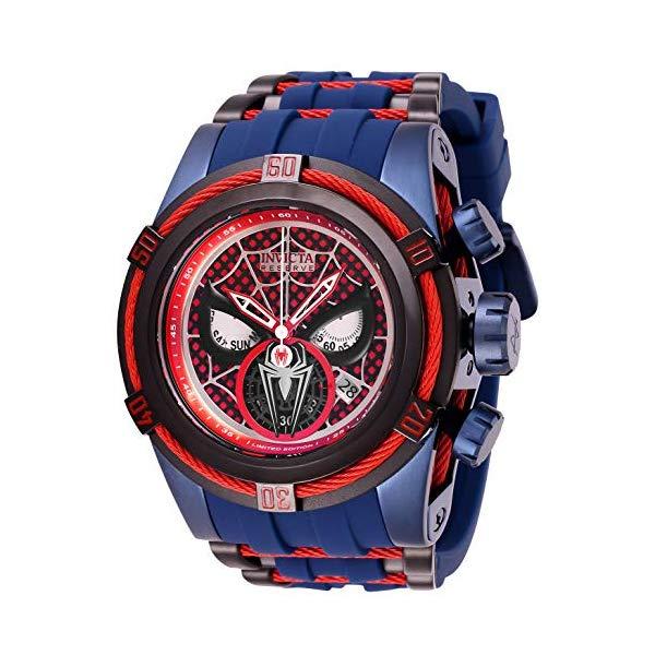 """インビクタ INVICTA インヴィクタ 腕時計 ウォッチ MARVEL 27048 マーベル スパイダーマン メンズ 男性用 Invicta Men""""s Marvel Stainless Steel Quartz Watch with Silicone Strap, Blue, 35 (Model: 27048)"""