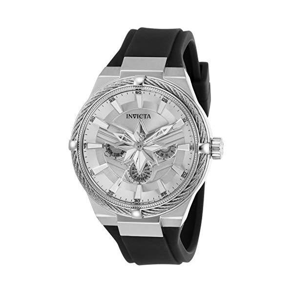 インビクタ INVICTA インヴィクタ 腕時計 ウォッチ MARVEL 28819 マーベル キャプテンマーベル レディース 女性用 Invicta Women's Marvel Stainless Steel Quartz Watch with Silicone Strap, Black, 22 (Model: 28819)