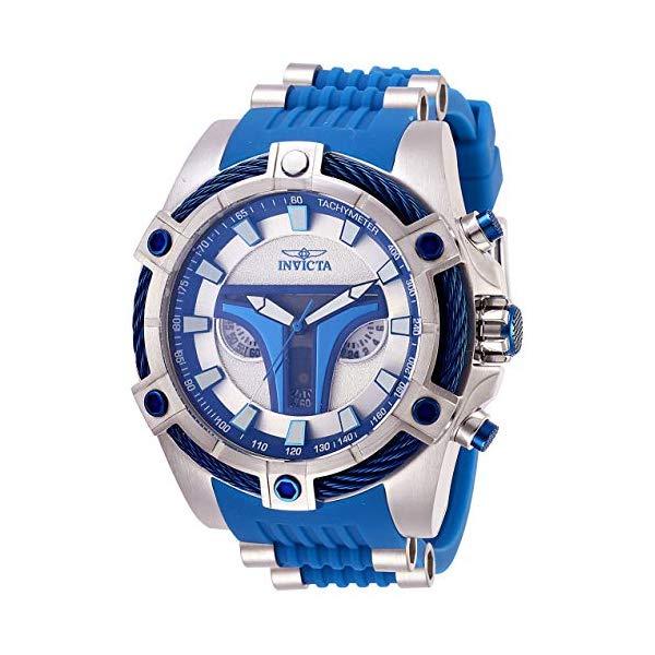 インビクタ INVICTA インヴィクタ 腕時計 ウォッチ Star Wars 27968 スターウォーズ ジャンゴフェット メンズ 男性用 Invicta Men's Star Wars Stainless Steel Quartz Watch with Silicone Strap, Blue, 26 (Model: 27968)