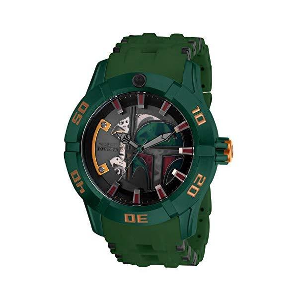 インビクタ INVICTA インヴィクタ 腕時計 ウォッチ Star Wars 26545 スターウォーズ ボバフェットメンズ 男性用 Invicta Men's Star Wars Stainless Steel Automatic-self-Wind Watch with Polyurethane Strap, Black, 26 (Model: 26545)
