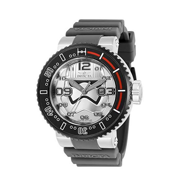 インビクタ INVICTA インヴィクタ 腕時計 ウォッチ Star Wars 27668 スターウォーズ キャプテンファズマ メンズ 男性用 Invicta Men's Star Wars Stainless Steel Quartz Watch with Silicone Strap, Light Grey, 29.8 (Model: 27668)