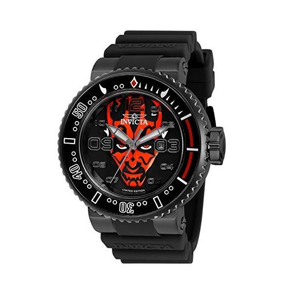 インビクタ INVICTA インヴィクタ 腕時計 ウォッチ Star Wars 27670 スターウォーズ ダースモール メンズ 男性用 Invicta Men's Star Wars Stainless Steel Quartz Watch with Silicone Strap, Black, 29.8 (Model: 27670)