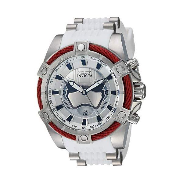 インビクタ INVICTA インヴィクタ 腕時計 ウォッチ Star Wars 27213 スターウォーズ キャプテンファズマ メンズ 男性用 Invicta Men's Star Wars Stainless Steel Quartz Watch with Silicone Strap, White, 26.1 (Model: 27213)