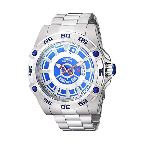 インビクタ INVICTA インヴィクタ 腕時計 ウォッチ Star Wars 26519 スターウォーズ R2-D2 メンズ 男性用 Invicta Men's Star Wars Automatic-self-Wind Watch with Stainless-Steel Strap, Silver, 24.5 (Model: 26519)