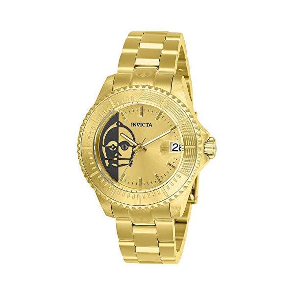 インビクタ INVICTA インヴィクタ 腕時計 ウォッチ Star Wars スターウォーズ C-3PO INVICTA Star Wars Lady 38mm Stainless Steel Gold Band, Gold dial Automatic Watch