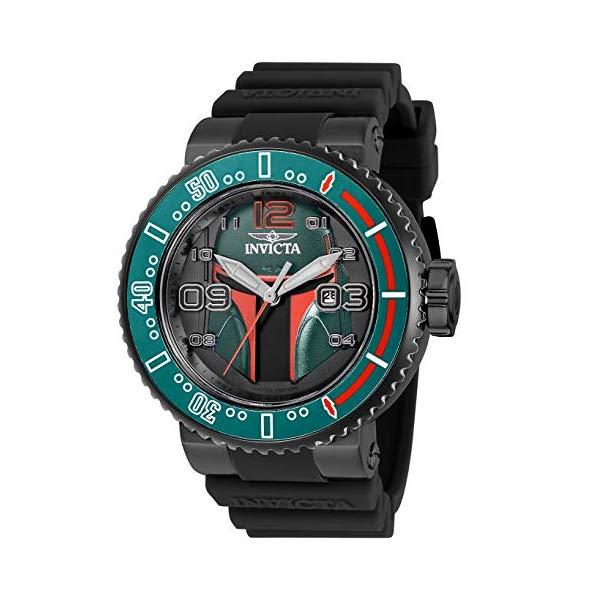 インビクタ INVICTA インヴィクタ 腕時計 ウォッチ Star Wars 27669 スターウォーズ ボバフェットメンズ 男性用 Invicta Men's Star Wars Stainless Steel Quartz Watch with Silicone Strap, Black, 29.8 (Model: 27669)