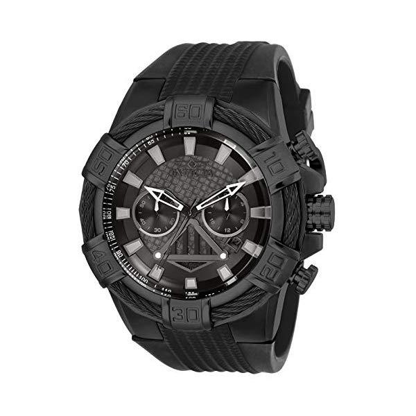 インビクタ INVICTA インヴィクタ 腕時計 ウォッチ Star Wars 26268 スターウォーズ ダースベーダー メンズ 男性用 Invicta Men's Star Wars Stainless Steel Quartz Watch with Silicone Strap, Black, 32 (Model: 26268)