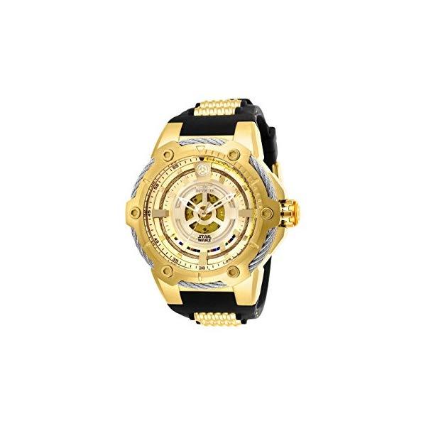 インビクタ INVICTA インヴィクタ 腕時計 ウォッチ Star Wars 26163 スターウォーズ C-3PO メンズ 男性用 Invicta Men's 26163 Star Wars Automatic Multifunction Black Dial Watch