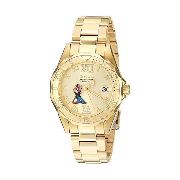 インビクタ INVICTA インヴィクタ 腕時計 ウォッチ 24473 ポパイ レディース 女性用 Invicta Women's Character Collection Quartz Watch with Stainless-Steel Strap, Gold, 18 (Model: 24473)