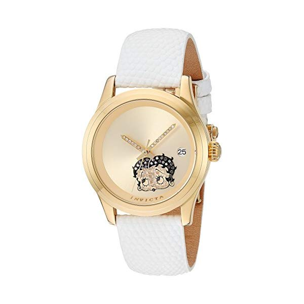インビクタ White, INVICTA インヴィクタ Strap, 腕時計 Watch ウォッチ 24495 ベティちゃん ベティブープ レディース 女性用 Invicta Women's Character Collection Stainless Steel Automatic-self-Wind Watch with Leather-Calfskin Strap, White, 20 (Model: 24495), MOTO GP CLUB:e7d61ea5 --- ww.thecollagist.com