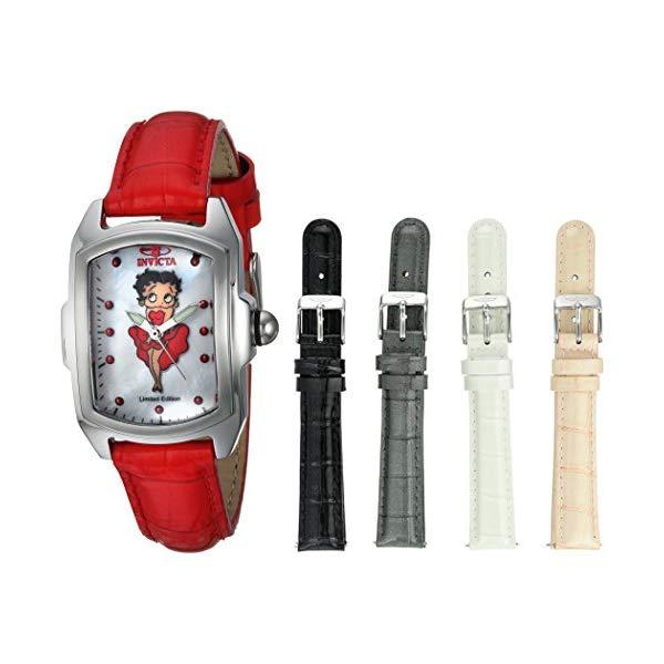 インビクタ 16 25249) INVICTA インヴィクタ 腕時計 ウォッチ 25249 ベティちゃん ベティブープ Women's レディース 女性用 Invicta Women's Character Collection Stainless Steel Quartz Watch with Leather Calfskin Strap, red, 16 (Model: 25249), GETTRY MAG:0719880f --- ww.thecollagist.com