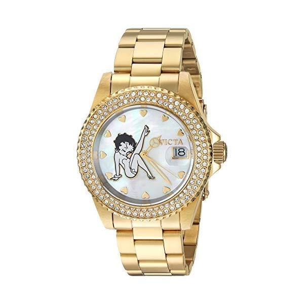 インビクタ INVICTA インヴィクタ Invicta インヴィクタ 腕時計 ウォッチ 24492 インビクタ ベティちゃん ベティブープ レディース 女性用 Invicta Women's Character Collection Quartz Watch with Stainless-Steel Strap, Gold, 20 (Model: 24492), アカツキワールド広場:a4db7ad9 --- ww.thecollagist.com