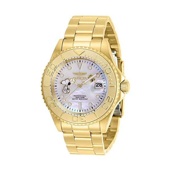 インビクタ INVICTA インヴィクタ 腕時計 ウォッチ 28518 スヌーピーメンズ 男性用 Invicta Men's Character Collection Quartz Watch with Stainless Steel Strap, Gold, 20 (Model: 28518)
