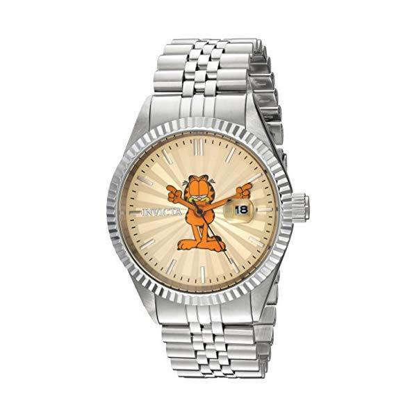 インビクタ INVICTA インヴィクタ 腕時計 ウォッチ 24872 ガーフィールド メンズ 男性用 Invicta Men's Character Collection Quartz Watch with Stainless-Steel Strap, Silver, 20 (Model: 24872)