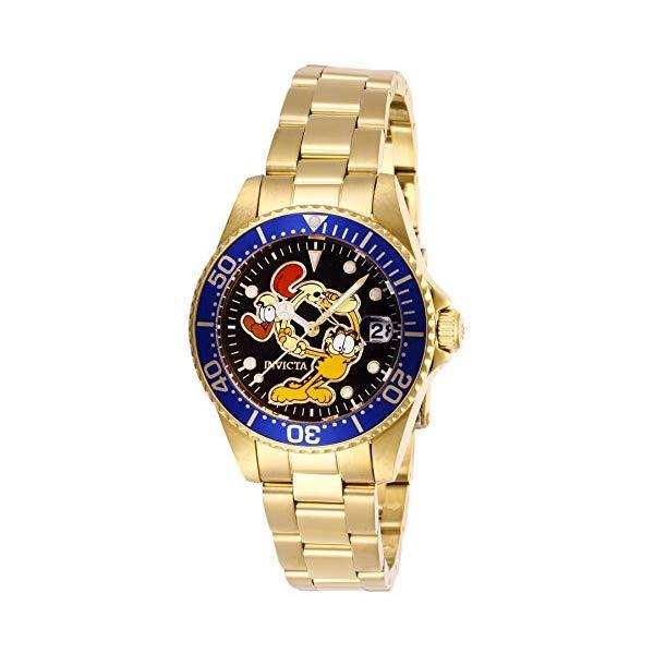 インビクタ INVICTA インヴィクタ 腕時計 ウォッチ 27427 ガーフィールド レディース 女性用 INVICTA Character Collection Lady 34mm Stainless Steel Gold Black dial PC32A Quartz