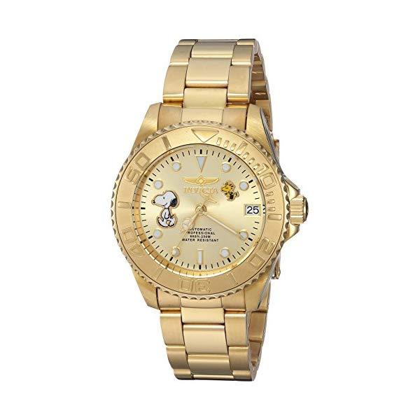 インビクタ INVICTA インヴィクタ 腕時計 ウォッチ 24795 スヌーピー レディース 女性用 Invicta Women's Character Collection Automatic-self-Wind Watch with Stainless-Steel Strap, Gold, 18 (Model: 24795)