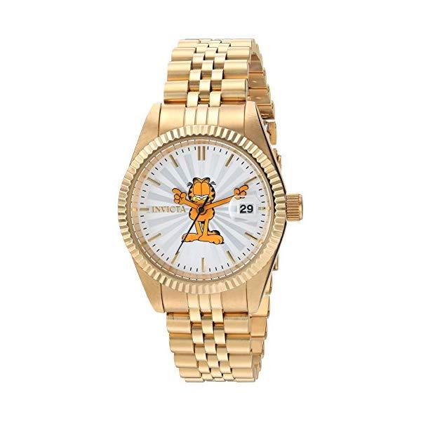 インビクタ INVICTA インヴィクタ 腕時計 INVICTA ウォッチ 24876 ガーフィールド 18 レディース 女性用 女性用 Invicta Women's Quartz Watch with Stainless-Steel Strap, Gold, 18 (Model: 24876), Way Easy:e4d5da31 --- ww.thecollagist.com