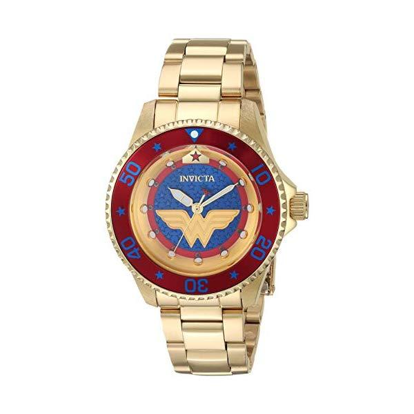 インビクタ INVICTA インヴィクタ 腕時計 ウォッチ 27138 ワンダーウーマン DCコミックス レディース 女性用 Invicta Women's DC Comics Automatic Watch with Stainless Steel Strap, Gold, 17.5 (Model: 27138)