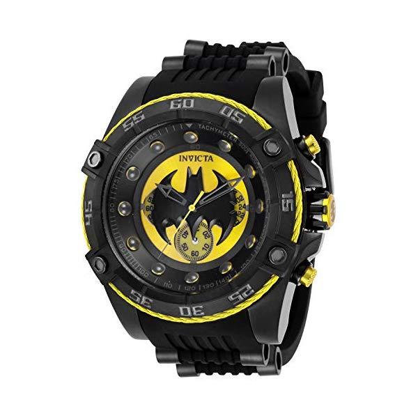 インビクタ INVICTA インヴィクタ 腕時計 ウォッチ 29122 バットマン DCコミック メンズ 男性用 Invicta Men's DC Comics Stainless Steel Quartz Watch with Silicone Strap, Black, 26 (Model: 29122)