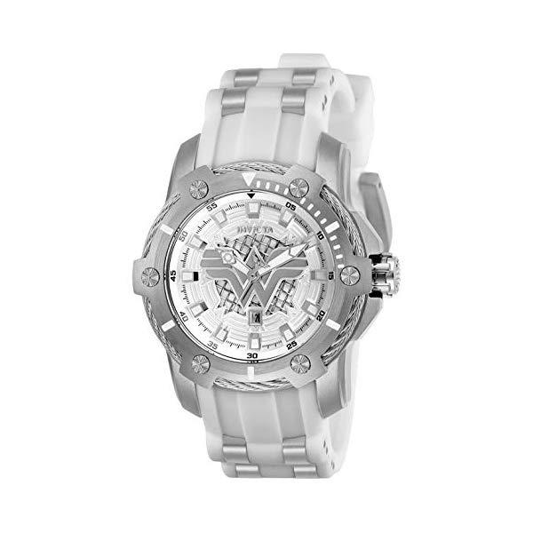 インビクタ INVICTA インヴィクタ 腕時計 ウォッチ 26836 ワンダーウーマン DCコミックス レディース 女性用 Invicta Women's DC Comics Stainless Steel Quartz Watch with Silicone Strap, White, 22 (Model: 26836)
