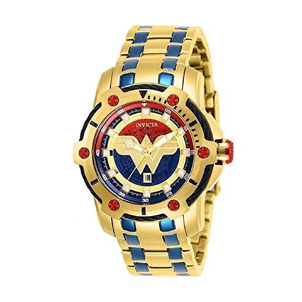 インビクタ Blue INVICTA インヴィクタ インヴィクタ 腕時計 ウォッチ 26839 ワンダーウーマン DCコミックス レディース 39.5mm 女性用 Invicta 26839 DC Comics Wonder Women Women's 39.5mm Gold-Tone Blue Dial Watch, イーザッカマニアストアーズ:d62eda82 --- ww.thecollagist.com