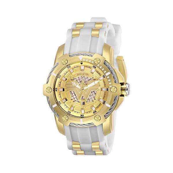 インビクタ INVICTA インヴィクタ 腕時計 ウォッチ 26835 ワンダーウーマン DCコミックス レディース 女性用 Invicta Women's DC Comics Stainless Steel Quartz Watch with Silicone Strap, White, 22 (Model: 26835)